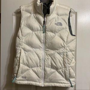 White North Face 550 vest